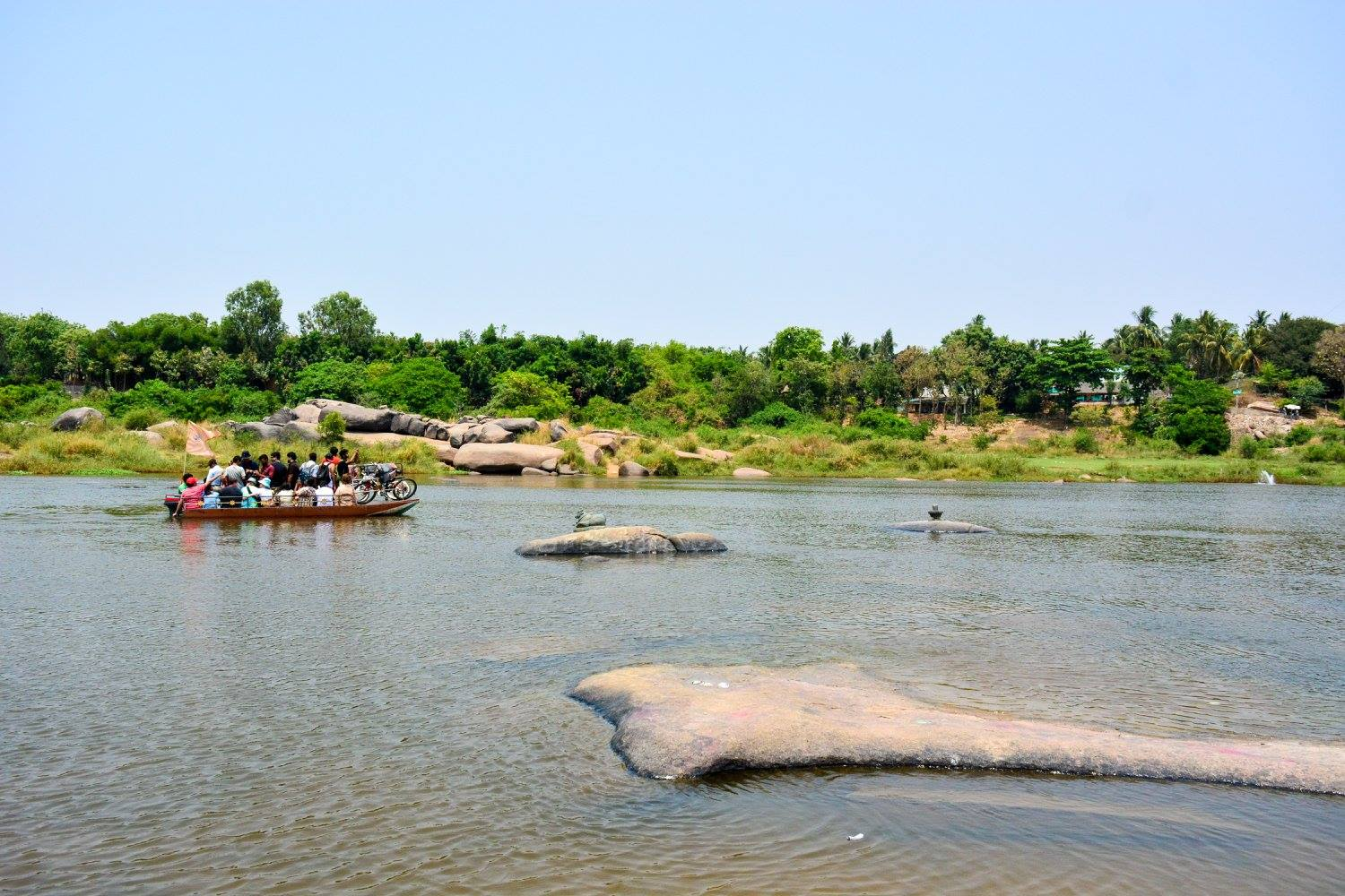 Boat Ride in Tungabhadra River
