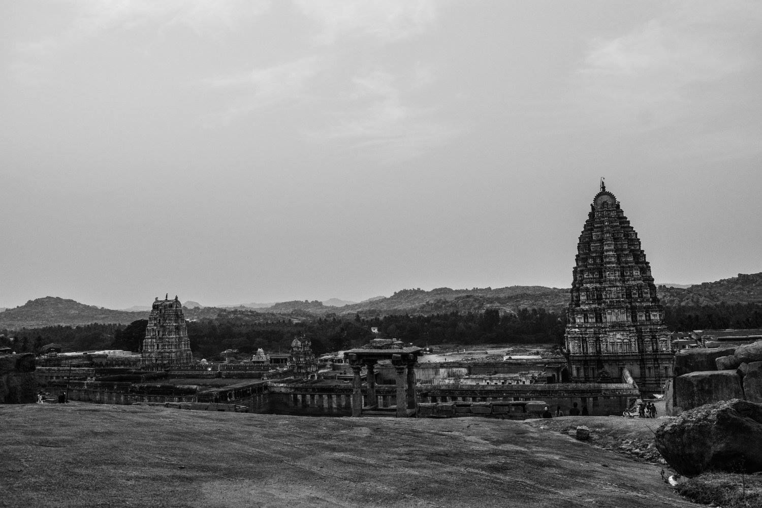 Virupaksha Temple from Hemkunta Hill
