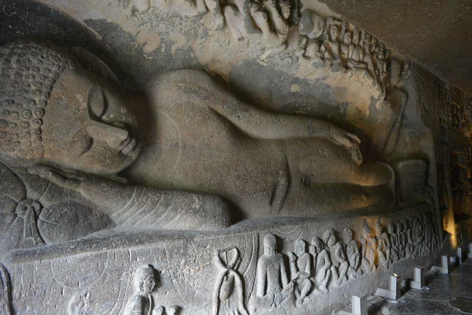 Reclining Buddha, Cave 26
