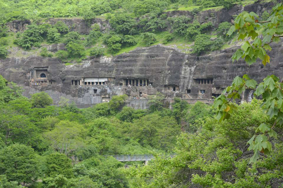 View of Ajanta Caves