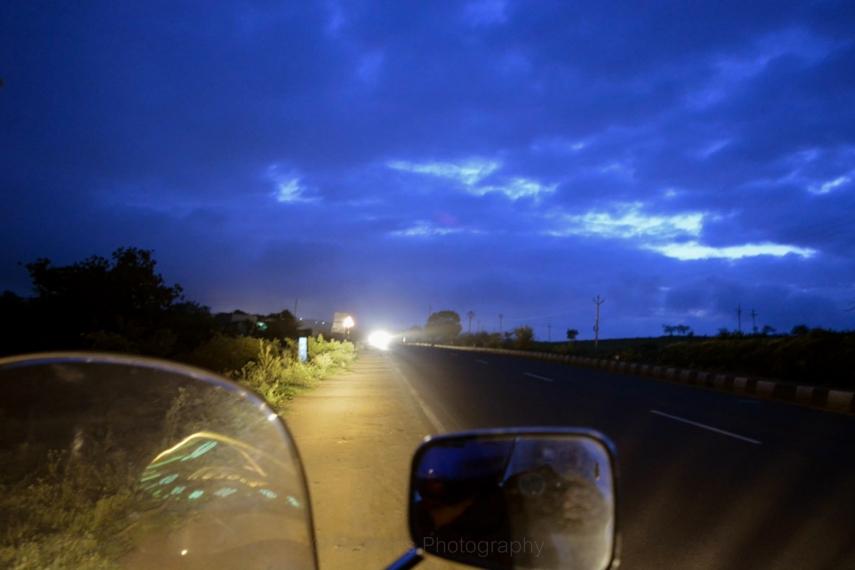 Pune Nagar Highway 5 in the morning
