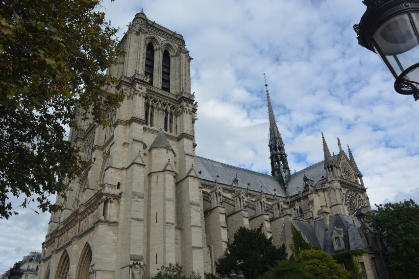 Side View of Notre-Dame Paris