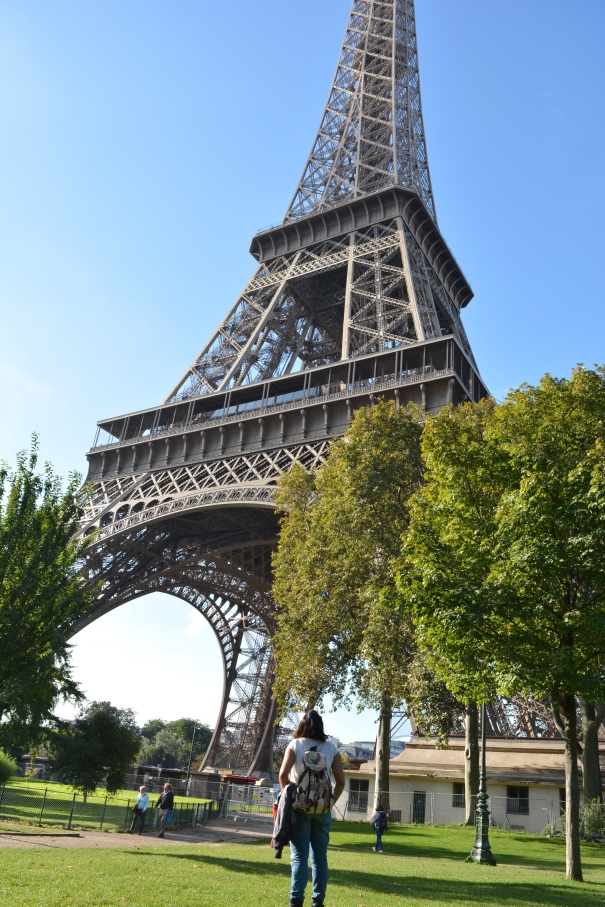Close View of Eiffel Tower