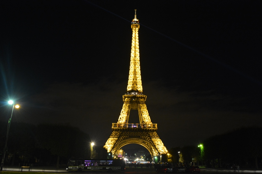 Eiffel Tower Night View