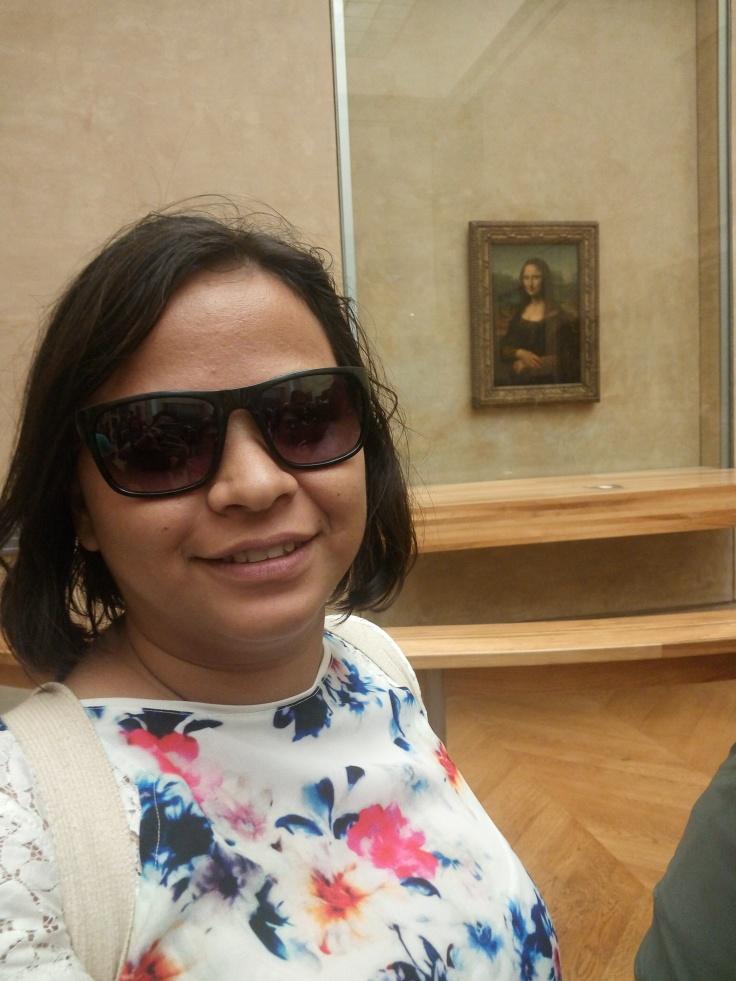 Mona Lisa behind Bullet Proof Glass