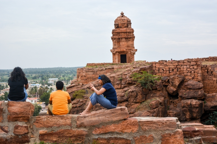 Badami Fort Wall Overlooking Lower Shivalaya