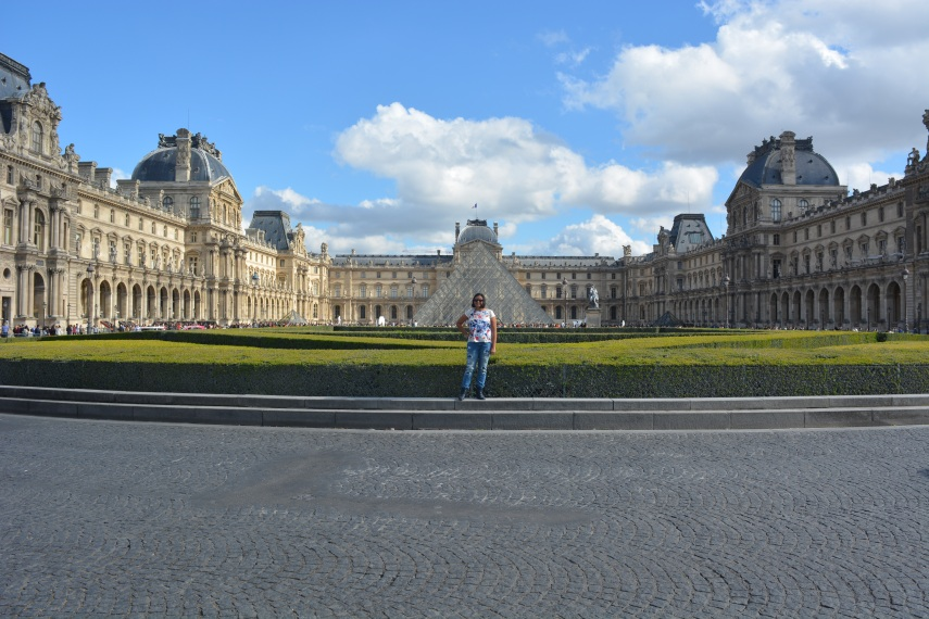 Outside of Louvre Museum