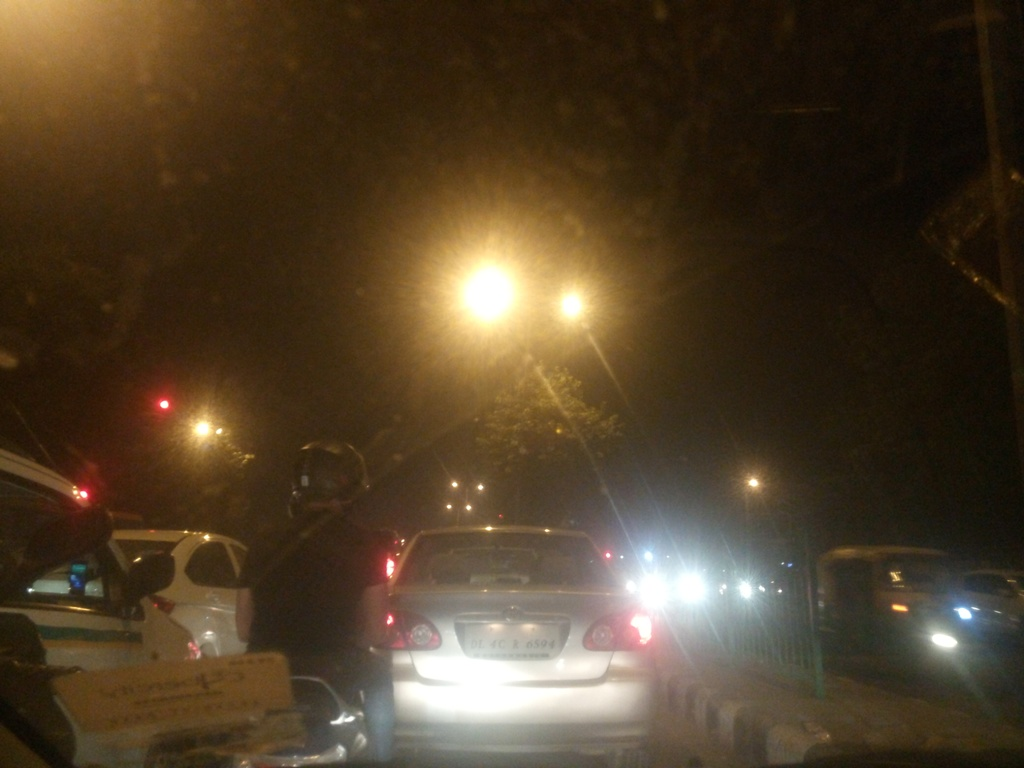 Stuck in traffic at Gurgaon to Delhi