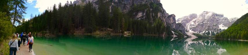 Panaromic View at Pragser Wildsee lake