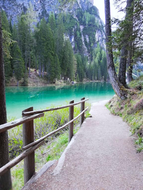 Turquoise Water in the Lake Pragser Wildsee