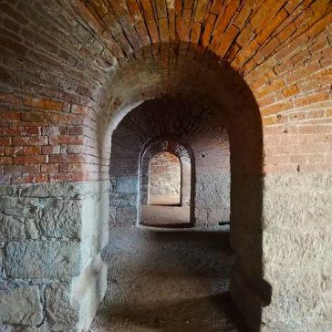Red Brick Arcs at Franzensfeste Fortress