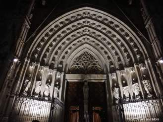 Barcelona Cathedral In Night