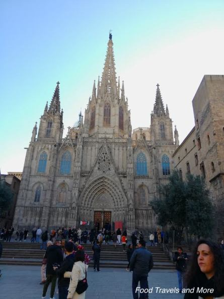 Barcelona Cathedral Front View