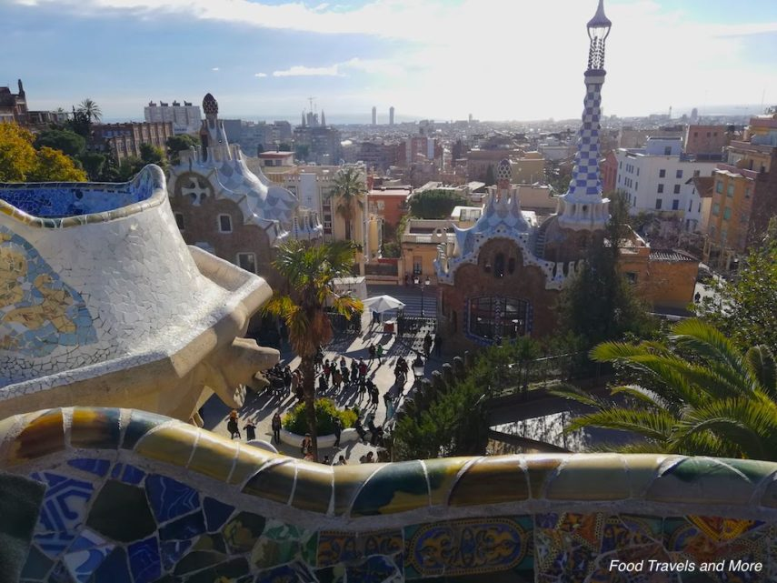 Overlooking from Park Guell