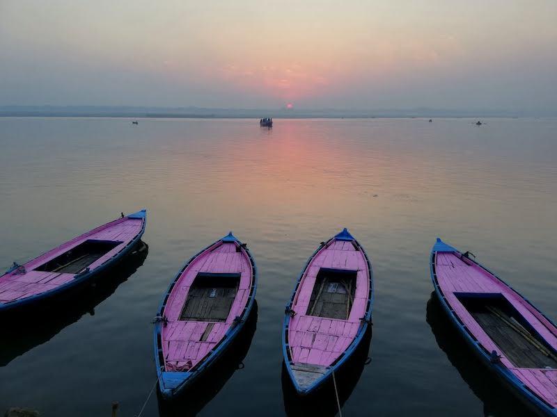 Sunrise at the Ghat, Varanasi