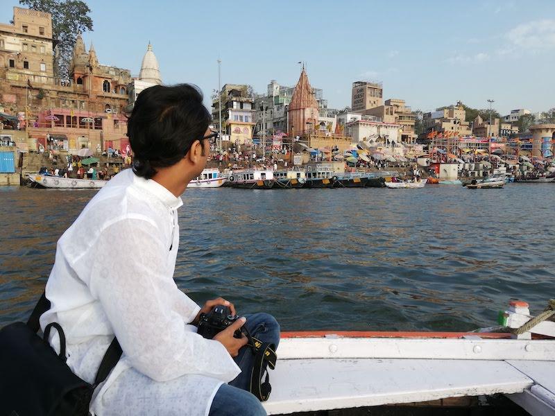 Boat ride at Varanasi ghats
