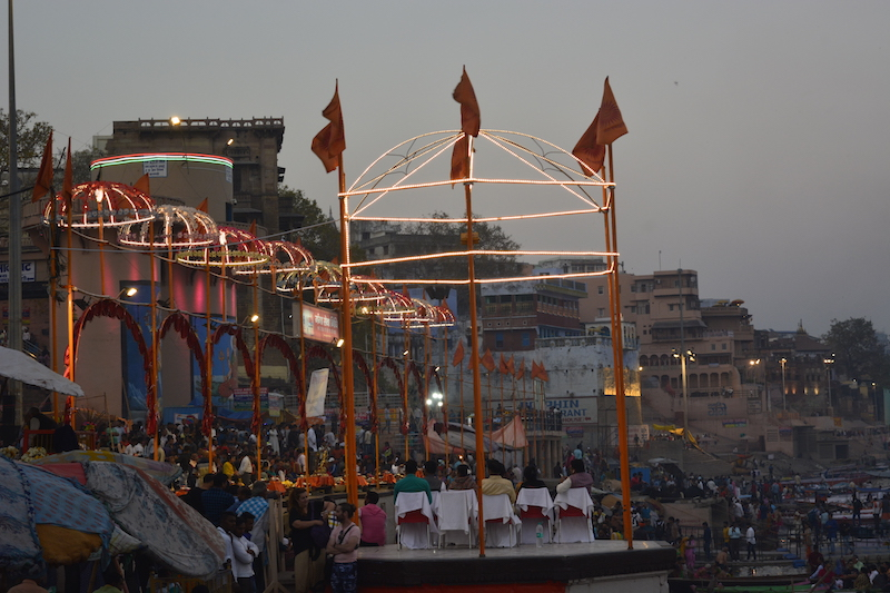 Evening Arti Decoration at Dashashwamedh Ghat
