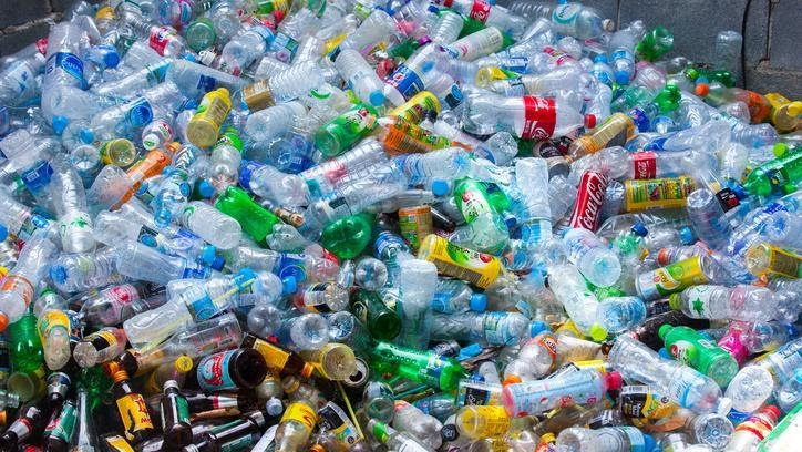 Plastic bottles trash