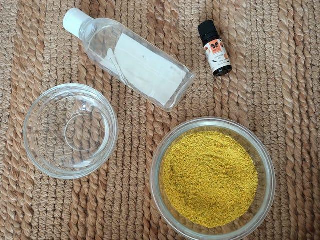 Ingredients for orange facewash