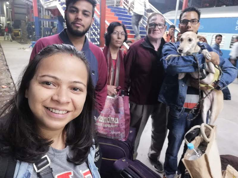 Train journey with dog from Pune to Delhi