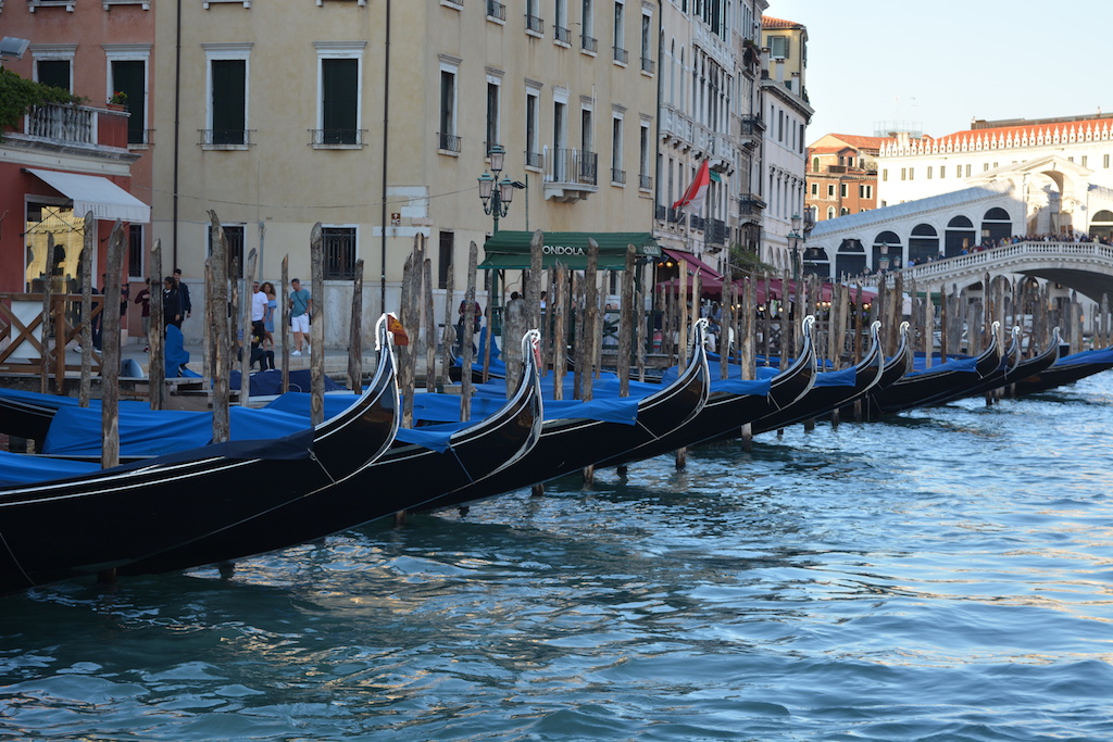 Gondolas at the Grand Canal, Venice