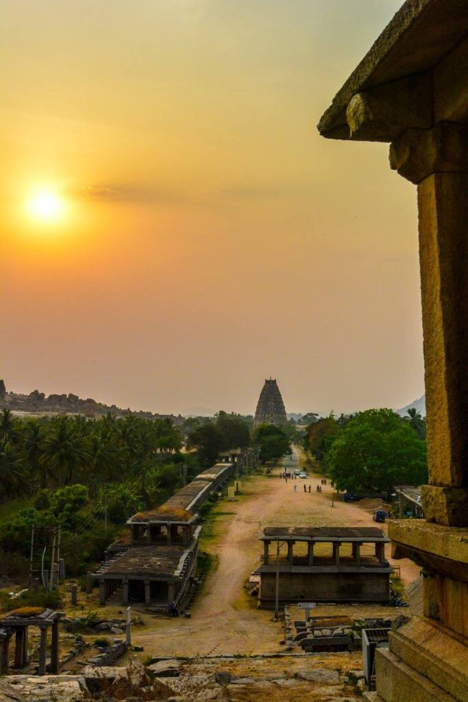 Sunset View of Hampi Bazaar