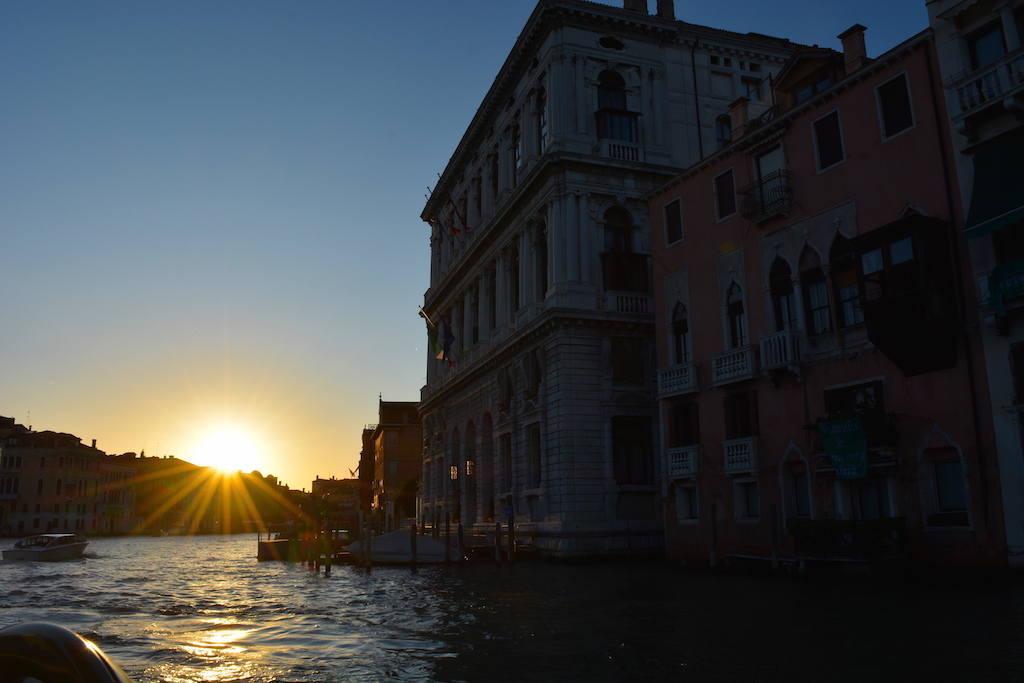 Sunset at Grand Canal,Venice